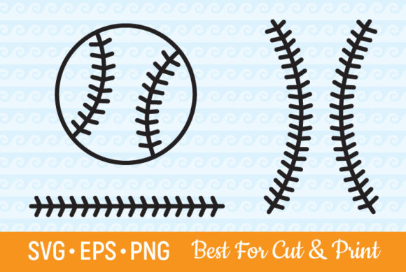 Download Free Baseball Stitches Softball Laces Graphic By Olimpdesign for Cricut Explore, Silhouette and other cutting machines.