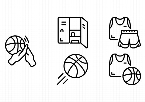 Download Free Basketball Graphic By Dedekalianak06 Creative Fabrica for Cricut Explore, Silhouette and other cutting machines.