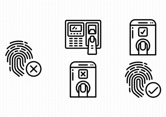 Download Free Biometrics Graphic By Gantengagif7 Creative Fabrica for Cricut Explore, Silhouette and other cutting machines.