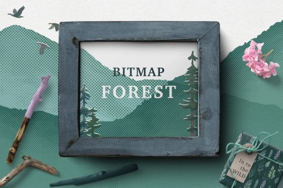 Bitmap Forest Graphic Illustrations By AlenaO