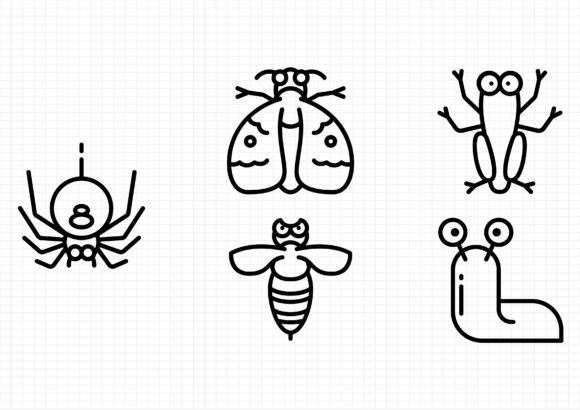 Download Free Bug And Insects Graphic By Gantengagif7 Creative Fabrica for Cricut Explore, Silhouette and other cutting machines.
