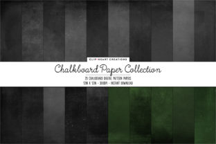 Chalkboard Papers Graphic Backgrounds By clipheartcreations