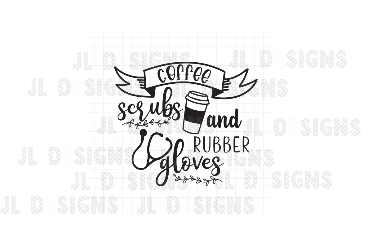 Download Free Coffee Scrubs And Rubber Gloves Graphic By Jl Designs Creative for Cricut Explore, Silhouette and other cutting machines.