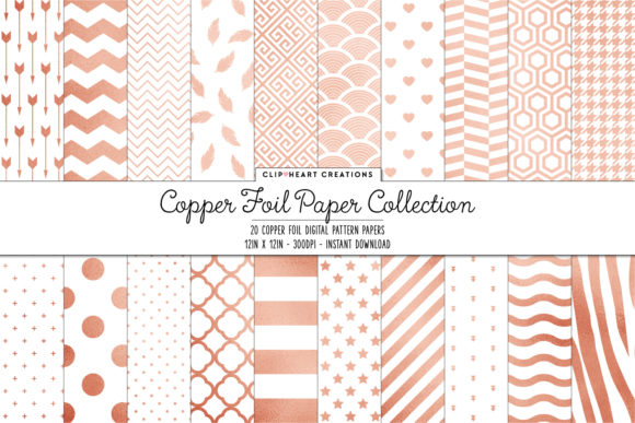 Download Free Copper Foil Papers Graphic By Clipheartcreations Creative Fabrica for Cricut Explore, Silhouette and other cutting machines.