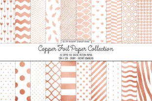 Copper Foil Papers Graphic Backgrounds By clipheartcreations