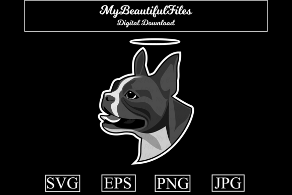 Download Free Dog Memorial Bulldog Graphic By Mybeautifulfiles Creative for Cricut Explore, Silhouette and other cutting machines.