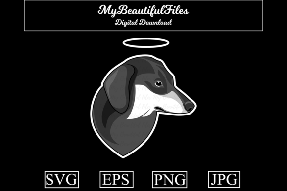 Download Free Dog Memorial Dachshund Graphic By Mybeautifulfiles Creative for Cricut Explore, Silhouette and other cutting machines.
