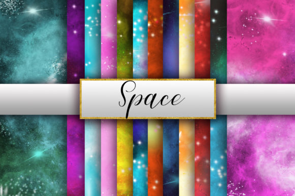 Galaxy Space Background Digital Papers Graphic Backgrounds By PinkPearly