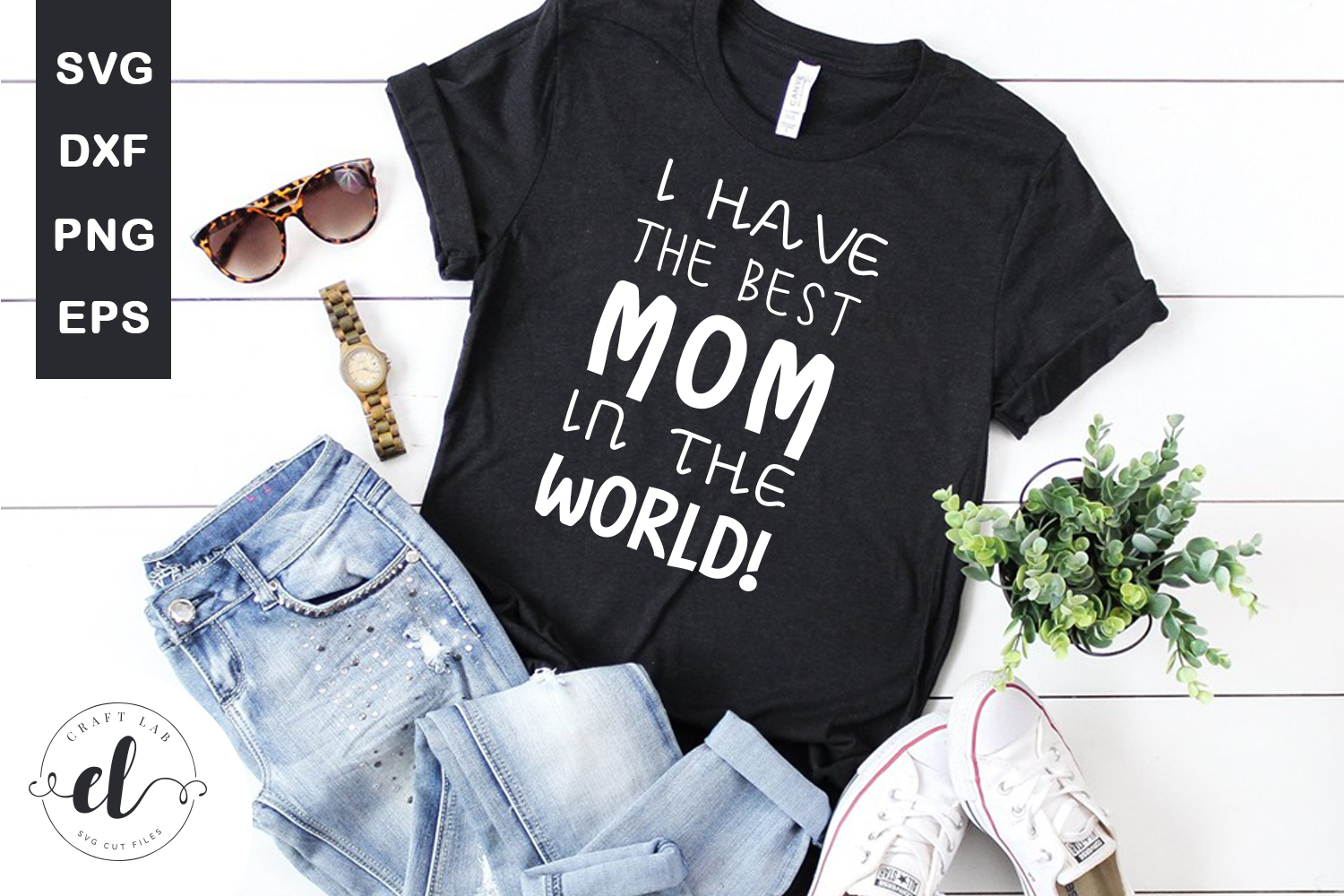 Download Free I Have The Best Mom In The World Graphic By Craftlabsvg for Cricut Explore, Silhouette and other cutting machines.