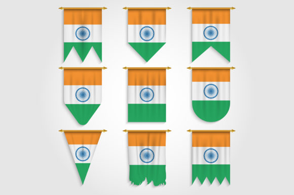 Download Free India Flag In Different Shapes Graphic By Medelwardi Creative SVG Cut Files