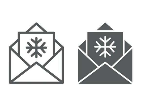 Download Free Letter To Santa Line And Glyph Icon Graphic By Anrasoft for Cricut Explore, Silhouette and other cutting machines.
