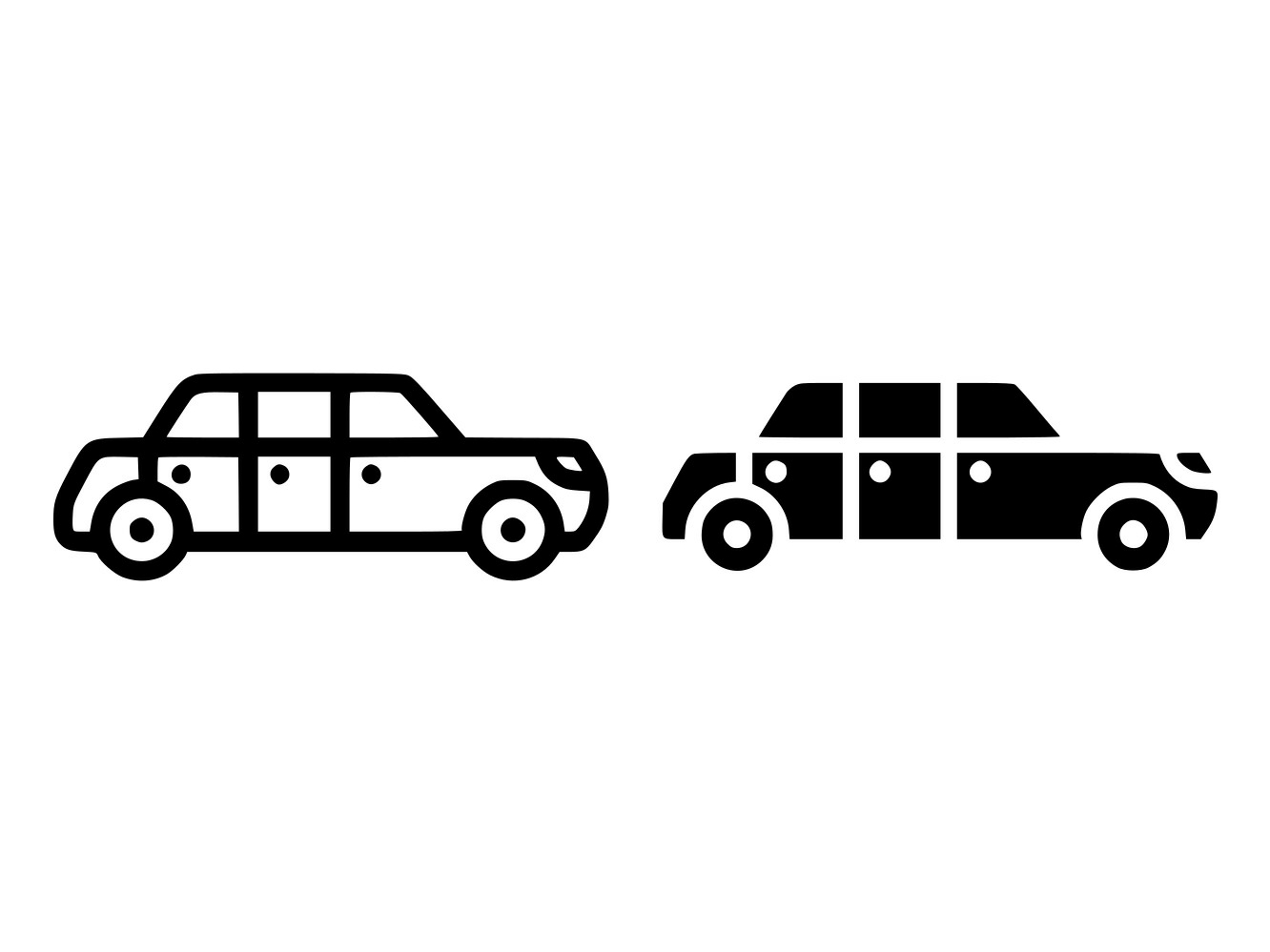 Download Free Limousine Line And Glyph Icon Graphic By Anrasoft Creative Fabrica for Cricut Explore, Silhouette and other cutting machines.
