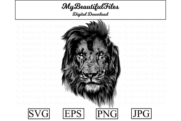 Download Free Lion Art Graphic By Mybeautifulfiles Creative Fabrica for Cricut Explore, Silhouette and other cutting machines.