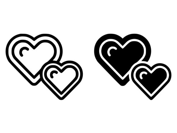 Download Free Live Hearts Line And Glyph Icon Graphic By Anrasoft Creative for Cricut Explore, Silhouette and other cutting machines.