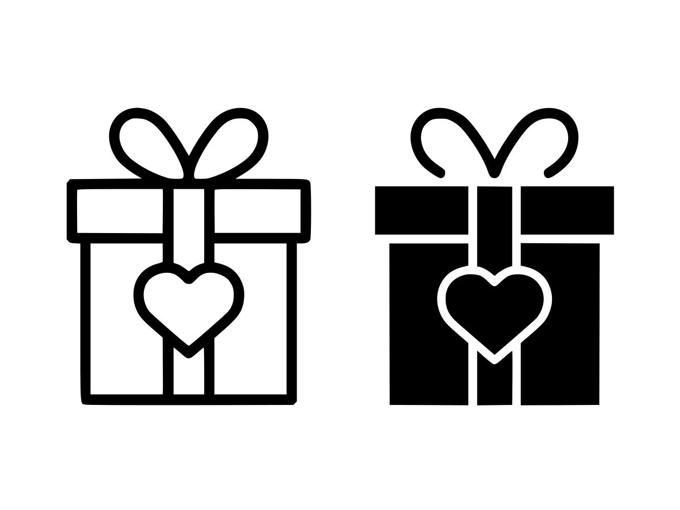 Download Free Love Gift Box Line And Glyph Icon Graphic By Anrasoft Creative for Cricut Explore, Silhouette and other cutting machines.