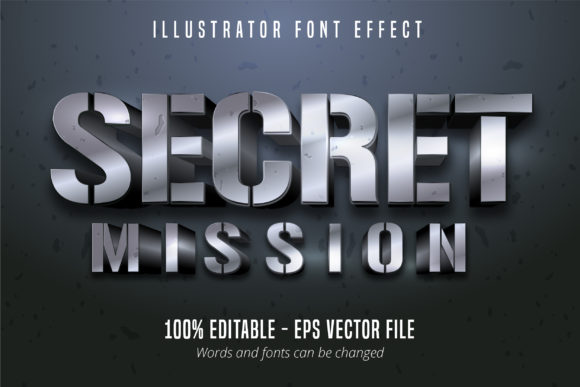 Download Free Metallic Style Editable Font Effect Graphic By Mustafa Beksen for Cricut Explore, Silhouette and other cutting machines.