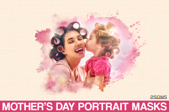 Mothers Day Watercolor Tempale Graphic Actions & Presets By 2SUNS
