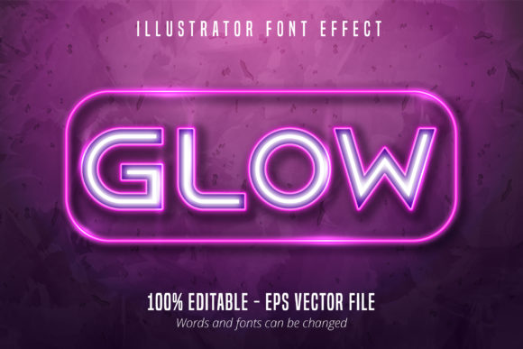 Print on Demand: Neon Lights Signage Style Editable Font Graphic Graphic Templates By Mustafa Bekşen