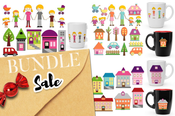 Print on Demand: Stay Home Family Bundle Graphic Illustrations By Revidevi