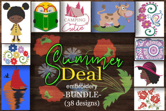 Print on Demand: Summer Deal Embroidery Bundle  By Embroidery Shelter