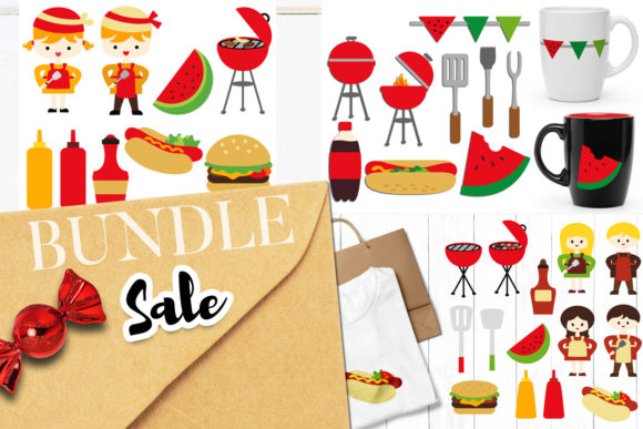 Print on Demand: Summer Grill BBQ Bundle Graphic Illustrations By Revidevi