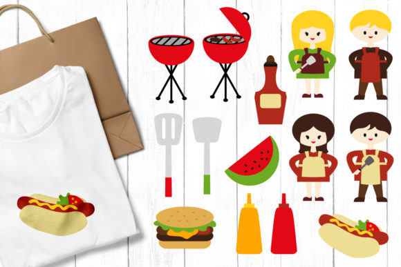 Summer Grill BBQ Bundle Graphic Download