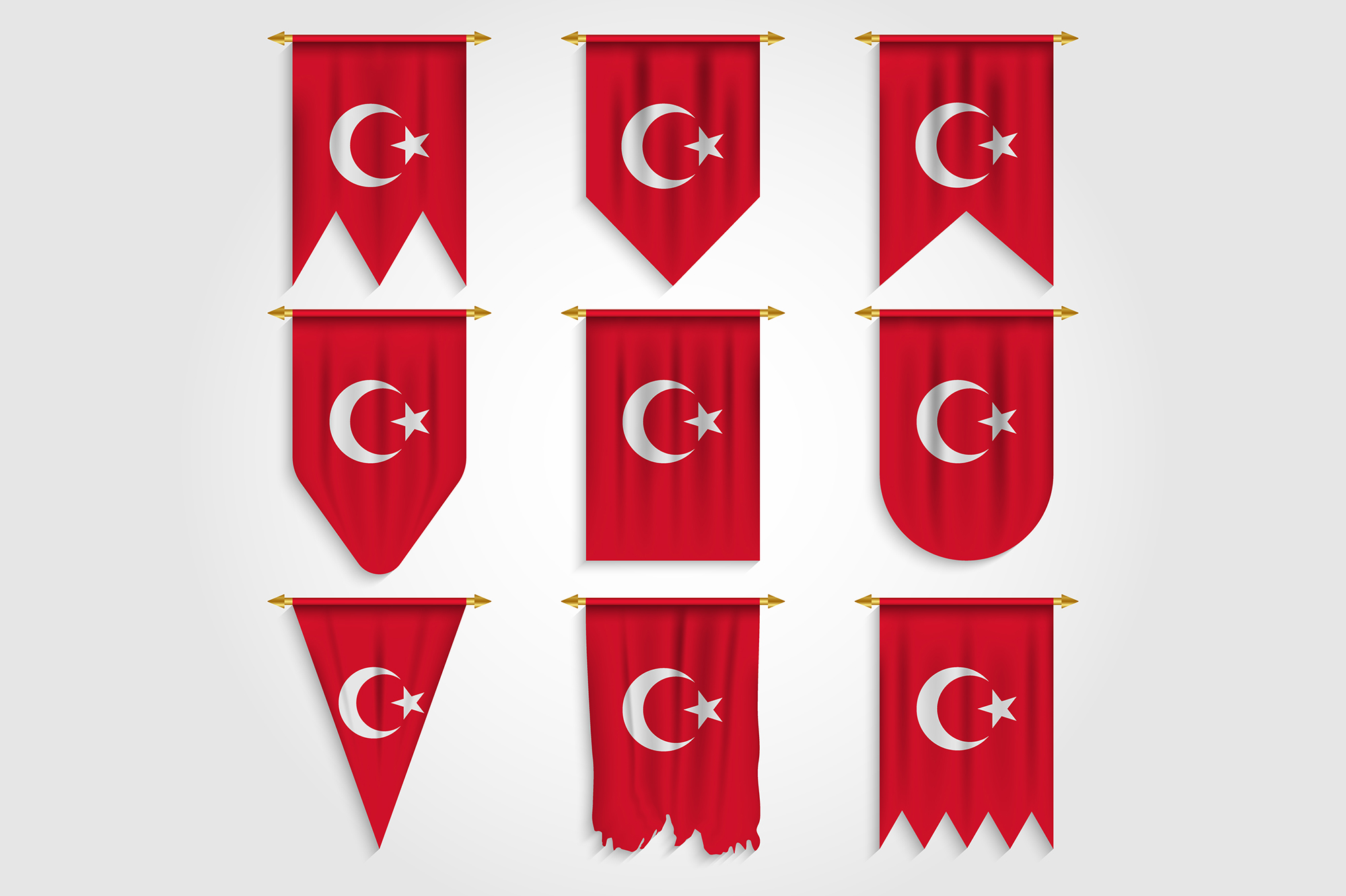 Download Free Turkey Flag In Different Shapes Grafico Por Medelwardi for Cricut Explore, Silhouette and other cutting machines.