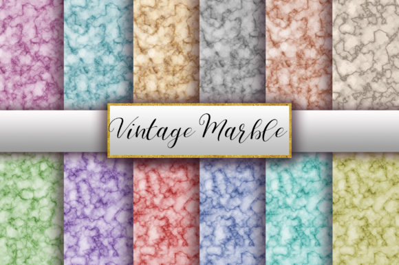 Vintage Marble Digital Papers Graphic By Pinkpearly Creative