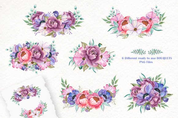 Watercolor Baby Animals and Flowers Graphic Preview