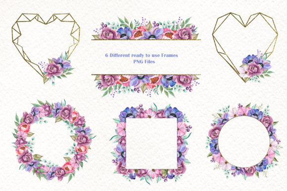 Watercolor Baby Animals and Flowers Graphic Image