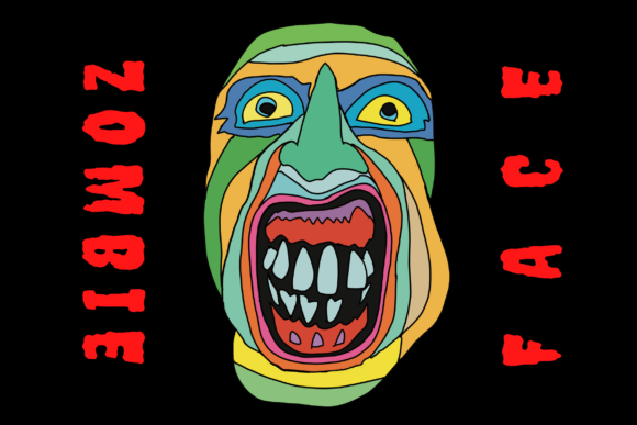 Print on Demand: Zombie Monster Face Graphic Illustrations By Majestic Twelve