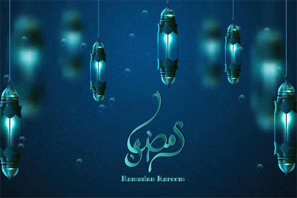 Download Free Amadan Hanging Shiny Lanterns Poster Graphic By Imammuslim835 for Cricut Explore, Silhouette and other cutting machines.