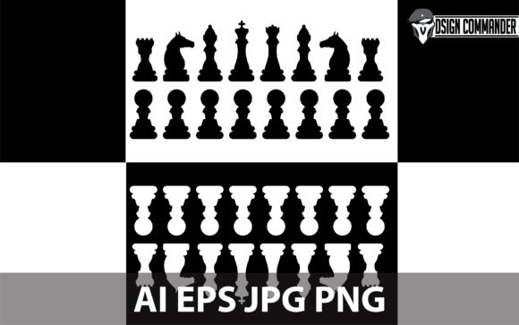 Download Free Chessboard Silhouette Design Vector Graphic By Designcommander62 for Cricut Explore, Silhouette and other cutting machines.