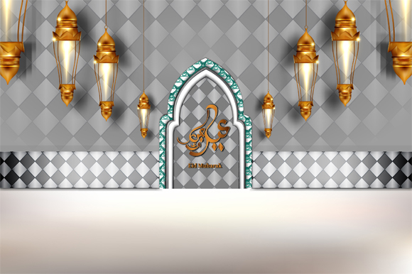 Download Free Eid Mubarak Luxurious Interior Door Graphic By Imammuslim835 for Cricut Explore, Silhouette and other cutting machines.