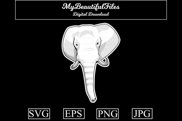 Download Free Elephant Head Graphic By Mybeautifulfiles Creative Fabrica for Cricut Explore, Silhouette and other cutting machines.