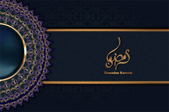 Download Free Ramadan Kareem Calligraphy Means Poster Graphic By Imammuslim835 for Cricut Explore, Silhouette and other cutting machines.