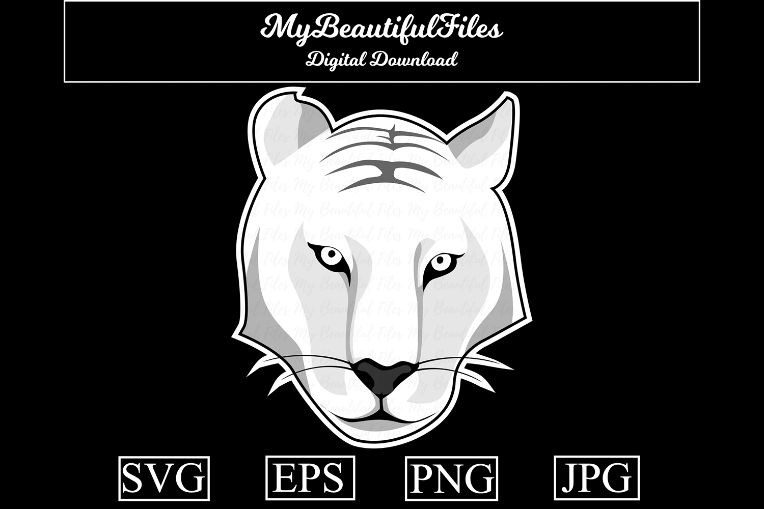 Download Free Tiger Lineart Graphic By Mybeautifulfiles Creative Fabrica for Cricut Explore, Silhouette and other cutting machines.