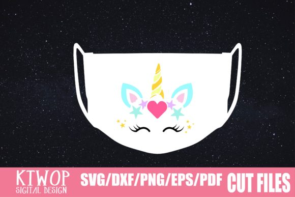 Download Free Unicorn Face Mask Graphic By Mr Pagman Creative Fabrica SVG Cut Files