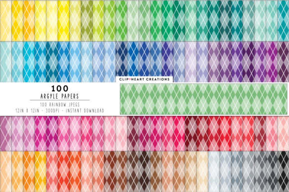 100 Cross Argyle Papers Graphic Backgrounds By clipheartcreations
