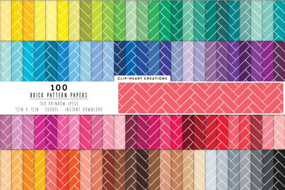 100 Herringbone Pattern Papers Graphic Backgrounds By clipheartcreations