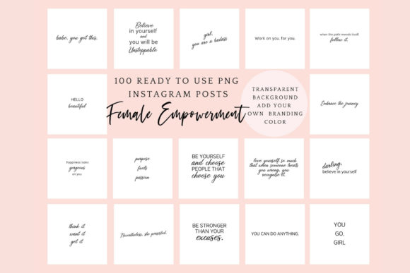 Download Free 100 Inspirational Quotes For Instagram Graphic By for Cricut Explore, Silhouette and other cutting machines.