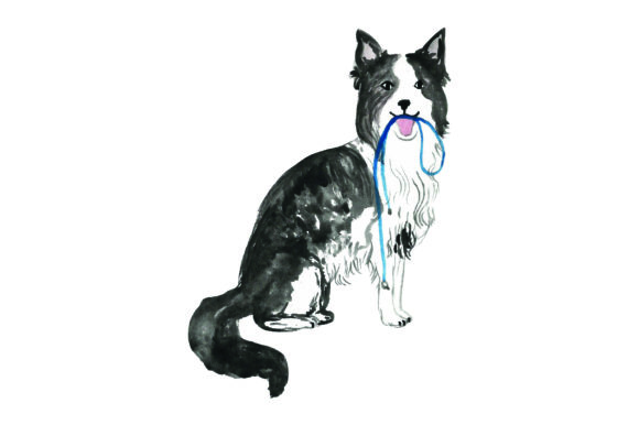 Download Free Border Collie With Leash In Mouth Svg Cut File By Creative for Cricut Explore, Silhouette and other cutting machines.