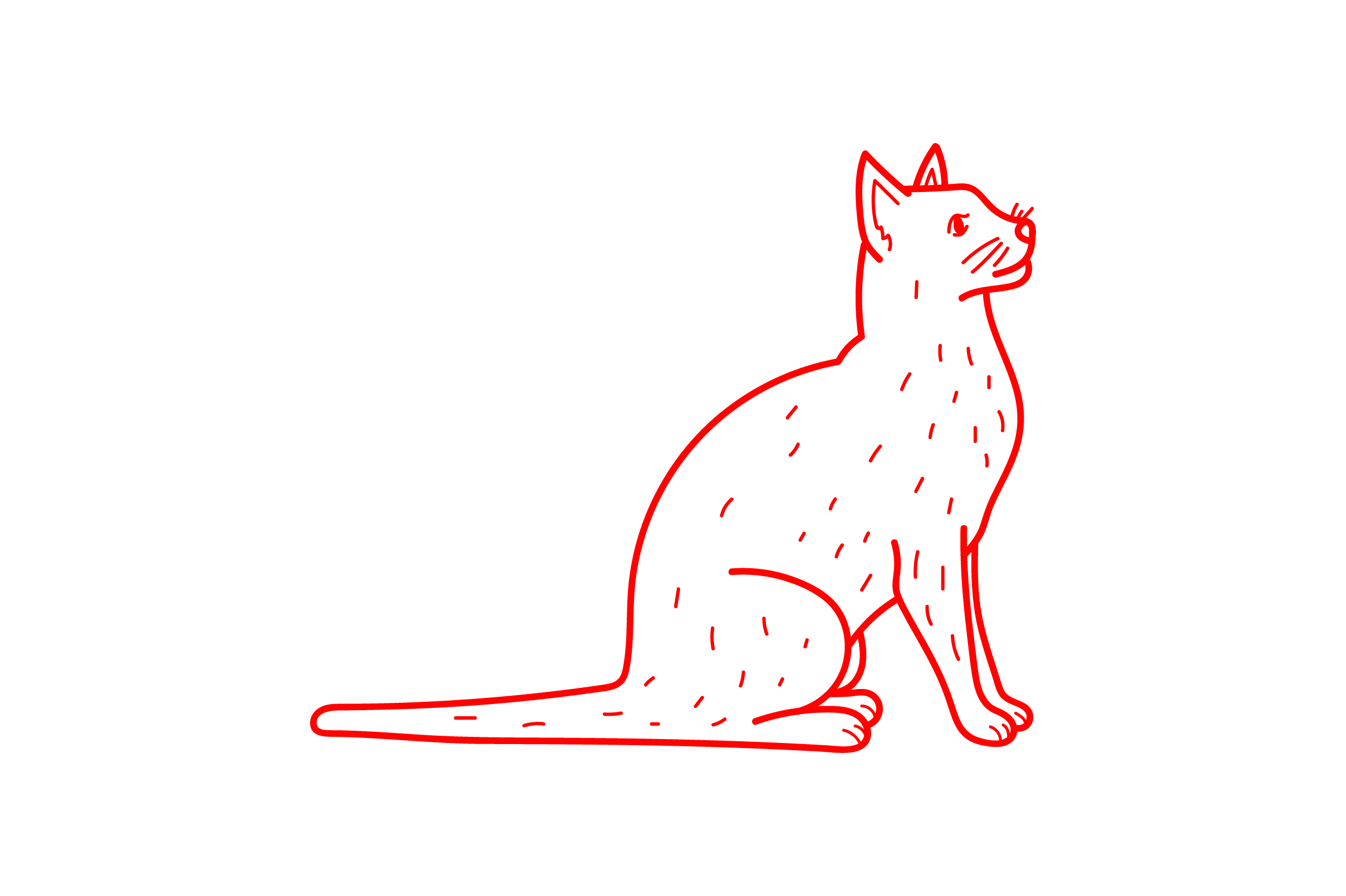 Download Free Cat Antique Redwork Svg Cut File By Creative Fabrica Crafts for Cricut Explore, Silhouette and other cutting machines.