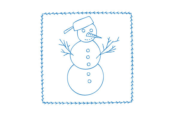 Snowman Antique Bluework Winter Craft Cut File By Creative Fabrica Crafts