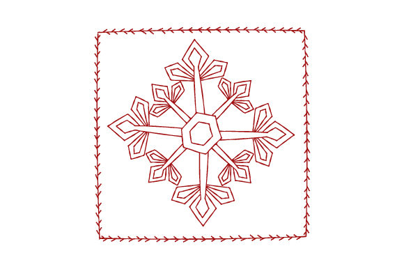 Snowflake Antique Redwork Winter Craft Cut File By Creative Fabrica Crafts