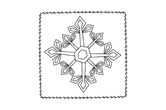 Download Free Snowflake Antique Redwork Svg Cut File By Creative Fabrica for Cricut Explore, Silhouette and other cutting machines.