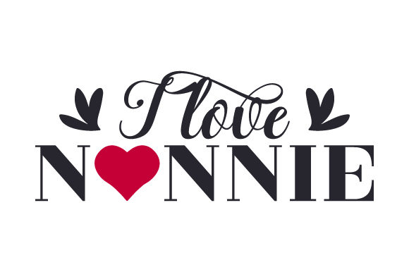 Download Free I Love Nonnie Svg Cut File By Creative Fabrica Crafts Creative for Cricut Explore, Silhouette and other cutting machines.