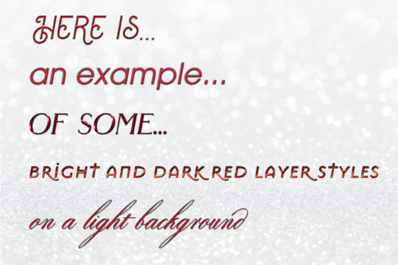 20 Bright and Dark Red Layer Styles Graphic Download
