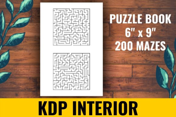 Print on Demand: 200 Mazes Puzzle Book KDP Graphic KDP Interiors By atlasart - Image 1