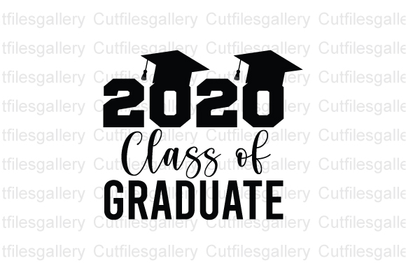 Download Free 2020 Class Of Graduate Graduation Graphic By Cutfilesgallery for Cricut Explore, Silhouette and other cutting machines.